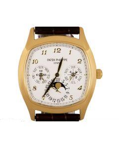 Patek Philippe Grand Complications Perpetual Calendar Men's 18k Yellow Gold Silver Dial B&P 5940J-001