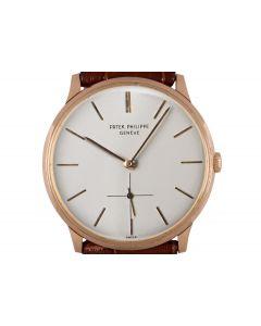 Patek Philippe Calatrava Vintage Men's Rose Gold Silver Dial 2573/2