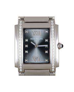 Patek Philippe Twenty~4 Ladies Stainless Steel Eternal Gray Dial Diamond Set 4910/10A-010