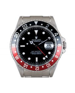 Rolex GMT-Master II Coke Men's Stainless Steel Black Dial 16710