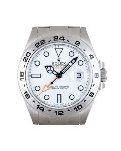 Rolex Unworn Explorer II Stainless Steel White Dial B&P 216570