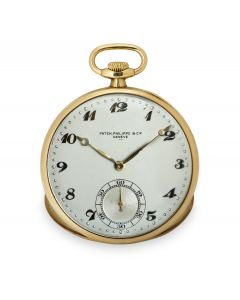 Patek Philippe Open Face Pocket Watch Vintage Yellow Gold