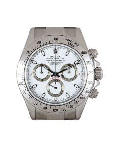 Rolex Cosmograph Daytona Men's Stainless Steel White Dial 116520