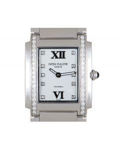 Patek Philippe Twenty4 Women's Stainless Steel Double Name Tiffany & Co. Dial Diamond Set 4910/10A