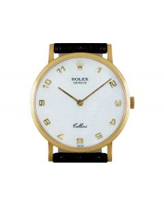 Rolex Cellini Men's 18k Yellow Gold White Mother of Pearl Dial 5112
