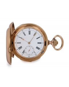 Montandon Full Hunter Minute Repeater Pocket Watch Rose Gold