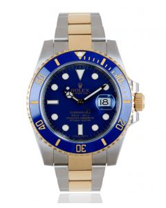 Rolex Submariner Date Stainless Steel & Yellow Gold Ceramic Bezel B&P 116613LB