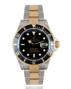 Rolex Submariner Date Stainless Steel & Yellow Gold Black Dial B&P 16613