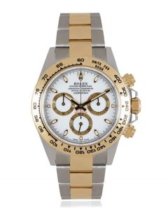 Rolex Cosmograph Daytona Gents Stainless Steel & 18k Yellow Gold White Dial B&P 116503