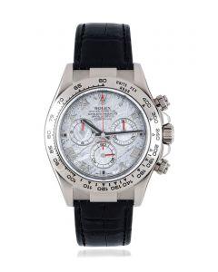 Rolex Daytona White Gold Meteorite Dial B&P 116519