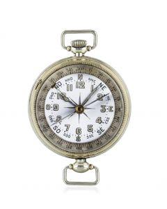 Military Compass Wristwatch Nickel