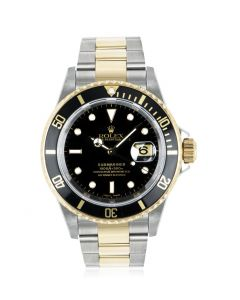 Rolex Submariner Stainless Steel & Yellow Gold Black Dial 16613