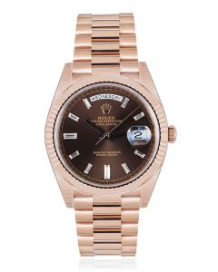Rolex Day-Date 40 Chocolate Diamond Dial 228235