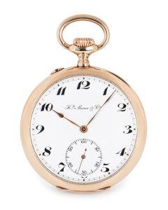 Henry Moser Open Face Pocket Watch Rose Gold