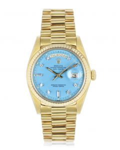 Rolex Day-Date Turquoise Stella Diamond Dial 1803