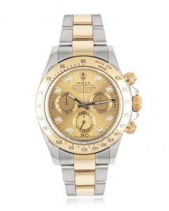 Rolex Daytona Stainless Steel & Yellow Gold Diamond Dial 116523