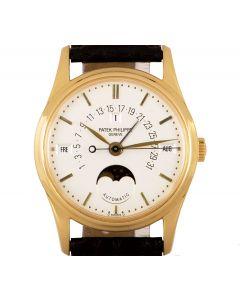 Patek Philippe Perpetual Calendar Retrograde Men's 18k Yellow Gold Silver Dial B&P 5050