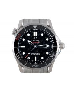 Omega Unworn James Bond 50th Anniversary Seamaster Men's Stainless Steel Black 007 Dial B&P 212.30.36.20.51.001