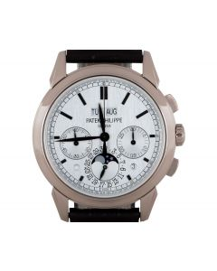 Patek Philippe Grand Complications Perpetual Calendar Chronograph White Gold B&P 5270G-001
