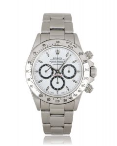Rolex Zenith Daytona Inverted 6 Stainless Steel White Dial 16520