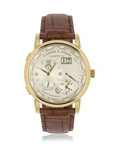 A. Lange & Sohne 18k Yellow Gold Silver Dial Time Zone 1116.021