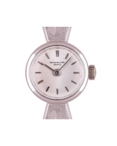 Patek Philippe Cocktail Vintage Women's 18k White Gold Silver Dial 3266/18