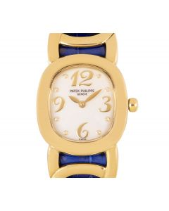 Patek Philippe Ellipse Women's 18k Yellow Gold Mother of Pearl Diamond Dial 4830