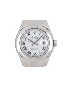 Rolex Datejust Pearlmaster Women's 18k White Gold White Dial 80329