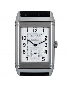 Jaeger LeCoultre Limited Edition Grande Reverso Duodate Men's Stainless Steel Silver & Black Dial 274.8.85