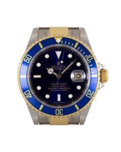 Rolex Unworn Submariner Date NOS Men's Stainless Steel & 18k Yellow Gold Blue Dial B&P 16613