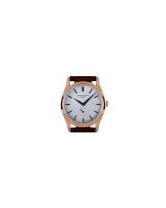 Patek Philippe Calatrava Men's 18k Rose Gold Silvery Gray Dial 5196R-001