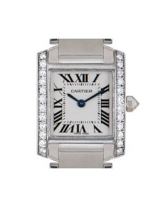 Cartier Tank Francaise White Gold WE1002S3