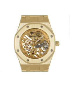 Audemars Piguet Very Rare Royal Oak Mid-Size 18k Yellow Gold Skeleton Dial
