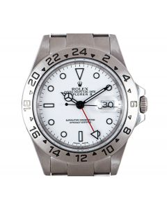 Rolex Explorer II Men's Stainless Steel White Dial 16570