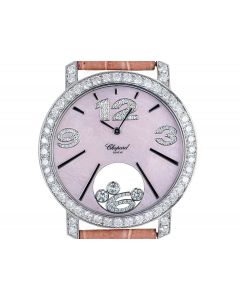 Chopard Happy Diamonds Women's 18k White Gold Pink Mother of Pearl Dial 20/7450-20