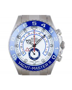 Rolex Unworn Yacht-Master II Men's Stainless Steel White Dial Ceramic Bezel B&P 116680