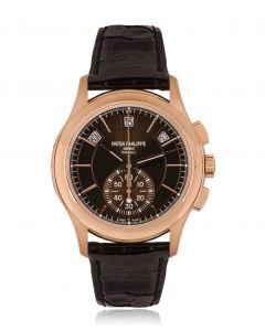 Patek Philippe Unworn Complications Annual Calendar Men's 18k Rose Gold Double Name Tiffany & Co. Dial B&P 5905R-001