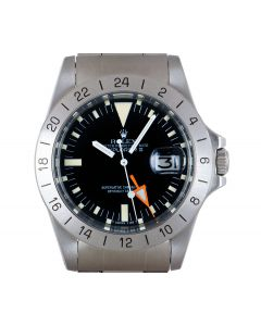 Rolex Explorer II Steve McQueen Vintage Men's Stainless Steel Matte Black Dial Orange Hand 1655