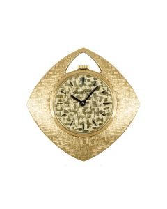 Jaeger LeCoultre Open Face Pendant Yellow Gold Pocket Watch
