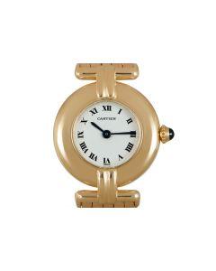 Cartier Rivoli Women's 18k Yellow Gold Silver Dial