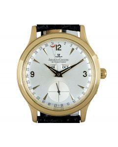 Jaeger LeCoultre Master Date Men's 18k Yellow Gold Silver Dial 140.1.87
