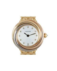 Cartier Trinity Women's 18k Tri-Gold Silver Diamond Dial 2357