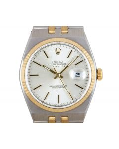 Rolex Oysterquartz Datejust Men's Stainless Steel & 18k Yellow Gold Silver Dial B&P 17013