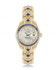 Rolex Datejust Pearlmaster Diamond & Sapphire 80308SA