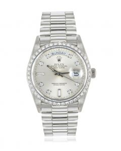 Rolex Rare Day-Date Platinum Diamond Set 18046
