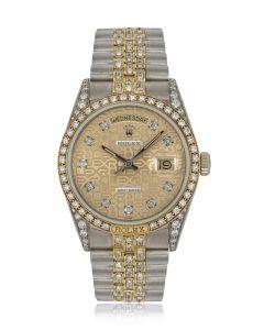 Rolex Day-Date Tridor Diamond Set 18139