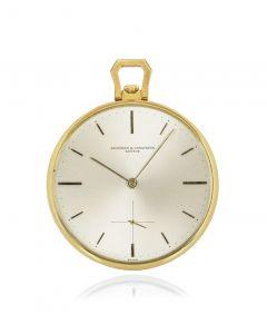 Vacheron Constantin Open Face Pocket Watch Yellow Gold 6320