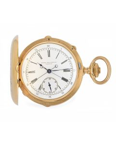Patek Philippe Rare Full Hunter Pocket Watch Split Seconds Chronograph Rose Gold