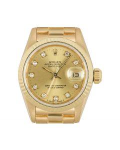 Rolex Datejust Diamond Set Gold Women's 69178