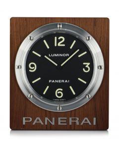 Panerai Wall Clock Aluminium & Wood Black Dial B&P OP6670